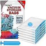 8 Pack Vacuum Storage Bags, Vacuum Bag (2 Jumbo, 4 Large, 2 Medium) Reusable Space Saver Closet Organizer Clothing Storage Ba