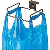 InterDesign Classico Over The Cabinet Plastic Bag Holder for Kitchen - Chrome