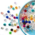 96pcs Smiley Face Beads,Happy Face Spacer Beads for DIY Jewelry Bracelet Earring Necklace Craft Making Supplies