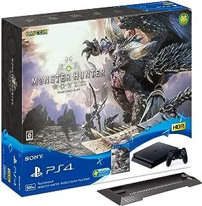 PlayStation 4 MONSTER HUNTER: WORLD Starter Pack Black (CUHJ-10022) 【Amazon.co.jp限定】アンサー PS4用縦置きスタンド付