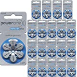 PowerOne Cochlear Implant Batteries, 2 Cartons of 60 Batteries, Total of 120 Batteries