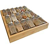 Simhoo Bamboo Spice Rack in-Drawer Kitchen Cabinet Spice Bottle Holder for Storage/Organizer 3-Tier Large Bamboo