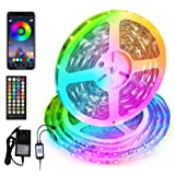 Smart LED Strip Lights 50FT, Sync with Music Flexible Color Changing Tape Lights APP Controlled RGB LED Lights Strip for Bedr