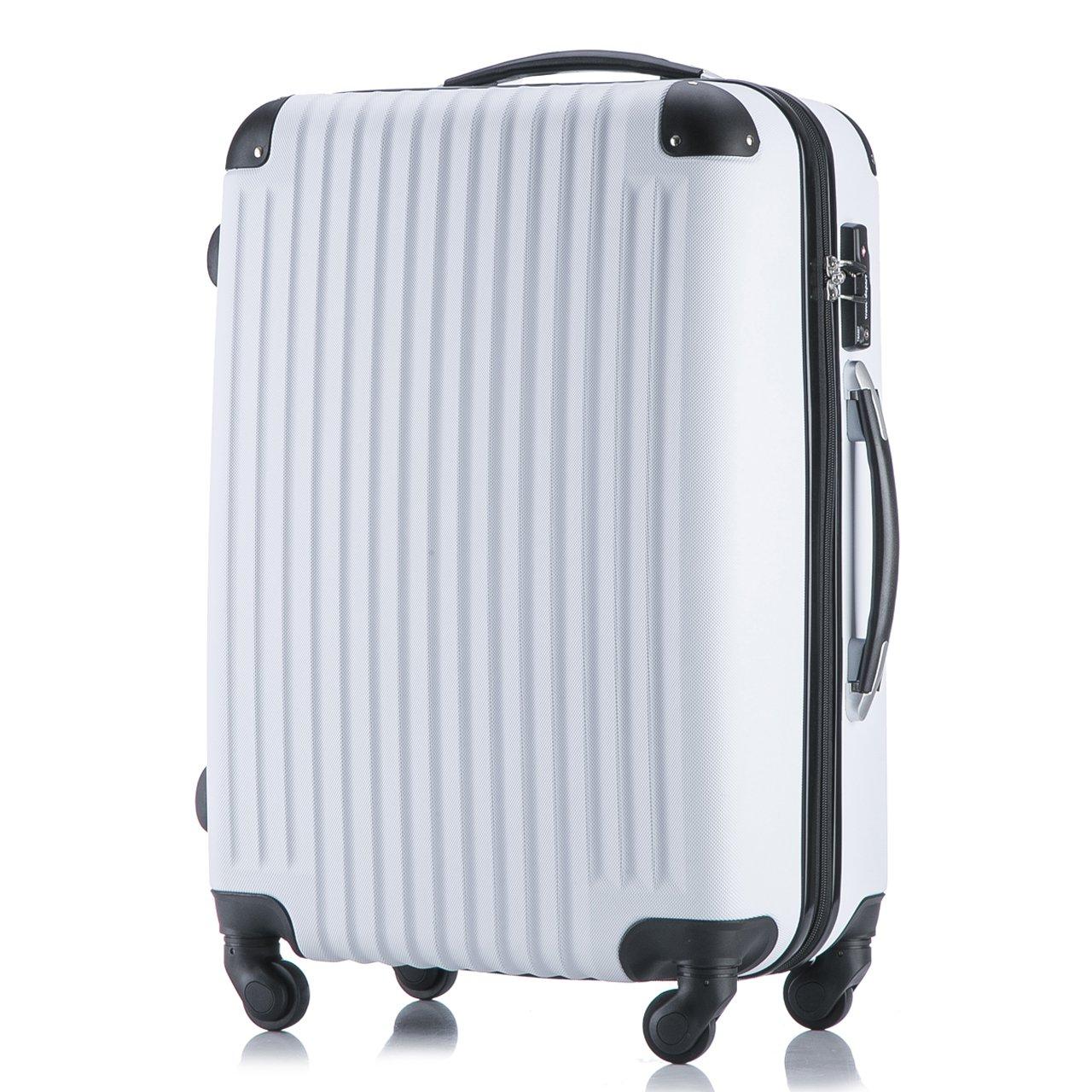 378f883c8f (トラベルデパート) 安心の3年保証 超軽量スーツケース TSAロック搭載 機内持込み ファスナータイプ ダイヤル式 保管カバー付