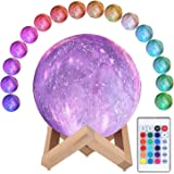 3D Moon Lamp, ALED LIGHT RGB 16 Colors Space Moon Light 15cm Diameter Lunar Universe Starry Sky Night Light Lamp with Remote