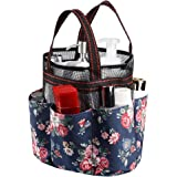 Andmey Shower Caddy Tote Bag, Portable Shower Tote Hanging Bath Organizer Bag with 7 compartments, Quick Dry Bathroom Organiz