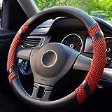 BOKIN Steering Wheel Cover, Microfiber Leather Viscose, Breathable, Anti-Slip, Odorless, Warm in Winter Cool in Summer, Unive