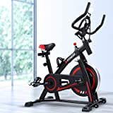 Spin Exercise Bike Stationary Flywheel Home Gym Fitness Indoor Cycling Adjustable Resistance Workout Pulse Sensor LCD Display