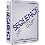 """Jax SEQUENCE in a Tin - Original SEQUENCE Game with Folding Board, Cards and Chips Multi Color, 5"""""""