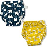 Happy Buba Baby Boys Girls Cotton Potty Training Pants - 2 Pack - Ships from Australia (3T, Bear + Giraffe)