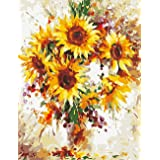 DIY 5D Diamond Painting by Number Kit, Painting Cross Stitch Full Drill Crystal Rhinestone Embroidery Pictures Arts-Sunflower