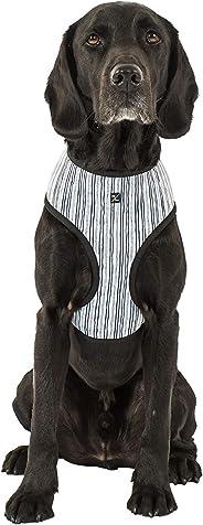 MOG & BONE Neoprene Dog Harness Chambray Stripe Print Medium