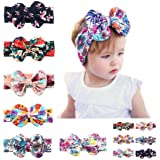 6 Pack Baby Girls Big Hair Bows Headbands,Mix color Hair Hoops Headbands Turban Knotted