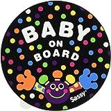 Sassy ベビーオンボードステッカー キャンディードット 【ドライブ】 NZSA100704