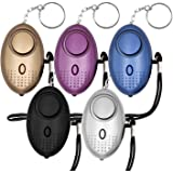 KOSIN Safe Sound Personal Alarm, 5 Pack 140DB Personal Security Alarm Keychain with LED Lights, Emergency Safety Alarm for Wo