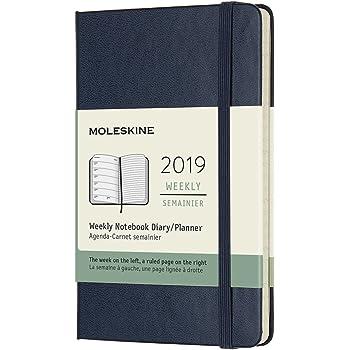 モレスキン 手帳 2019年1月始まり 12ヵ月 ウィークリーノートブック ハードカバー ポケット サファイアブルー DHB2012WN2Y19