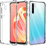 Junhou for Oppo A91 Heavy Duty Soft Gel Clear Transparent Shockproof TPU Thin Slim Case Cover