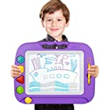 TONOR Large Non-toxic Magna Doodle Sketch Board Magnetic Colorful Erasable Drawing Board for Toddler Baby Kids Christmas Gift