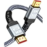 8K HDMI Cable 3M,Snowkids HDMI Cable(8K 60Hz,4K 120Hz) 48Gbps Ultra HD High Speed HDMI to HDMI Cord Support 8K,4K,3D,HDR,Dyna