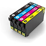 Generic Epson 812XL Ink Cartridge for Epson Workforce Pro WF-3820 WF-3825 WF-4830 WF-4835 Workforce WF-7830 7840 7845 (1 Set,