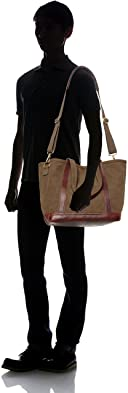 Aging Canvas 2-way Tote: Olive