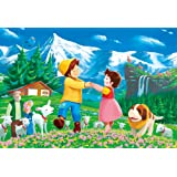 300ピースジグソーパズル アルプスの少女ハイジ みんなで踊ろう(26×38cm)