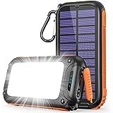 26800mAh & 32個高輝度LEDライト & Type-C急速充電 Tranmix ソーラーモバイルバッテリー ソーラーチャージャー モバイルバッテリー 2way蓄電 ソーラー充電器 スマホ充電器 3つUSB出力ポート Type-C入力ポート