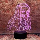 Kamado Nezuko 3D Illusion Demon Slayer Night Light LED Anime Lamp 16 Colors Remote Control Room Decor