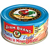 Ayam Brand Tuna Chunks in Mineral Water Light | Wild Caught Premium Tuna | High in Lean Protein | Omega 3, Vitamin E, B6 & B1