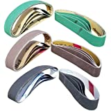 """24 Pcs Knife Sharpener Sanding Belts, 3/4"""" x 12"""" Belt Kit for the Ken Onion Edition Work Sharp Knife & Tool Sharpener - 4 bel"""