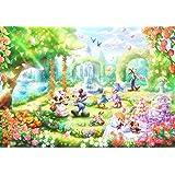 1000ピース ジグソーパズル ディズニー バラの香りのガーデンパーティー 【ピュアホワイト】 (51x73.5cm)