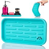 Nivafeel Kitchen Sink Organizer Tray – Silicone Holder for Sponge, Scrubber, Soap – Anti-Slip and Heat Resistant for Cleaning