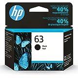 Original HP 63 Black Ink Cartridge   Works with HP DeskJet 1112, 2130, 3630 Series; HP ENVY 4510, 4520 Series; HP OfficeJet 3