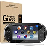 (Pack of 2) Screen Protector For PS Vita 2000, Akwox Premium HD Clear 9H Tempered Glass Screen Protective Film For Sony PlayS