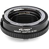 VILTROX レンズマウントアダプター EF-R2 高速AF キャノン EF/EF-Sレンズ→Canon EOS R シリーズ ミラーレス一眼カメラ コントロールリング付き フルサイズ対応 自動絞り 電子接点あり 絞り調整可能 手振れ補正 EOS