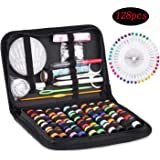 Sewing Kit, FESTFIT 128pcs DIY Premium Sewing Supplies, Mini Sewing Accessories for Travel, Home, DIY, Beginners, Emergency,
