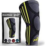PURE SUPPORT Knee Brace Sleeve with Best Patella Compression for Meniscus Tear & Arthritis – Ideal for Running, Sports and Da