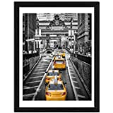 Finefrarm 12x16 Frames Display 11x14 Picture with Mat or 12 x 16 Photo Without Mats Black Solid Wood Picture Frames Wall Art