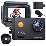 APEMAN Action Camera A79, 4K 20MP WiFi External Microphone Remote Control Underwater 40M Waterproof Sports Cam for Yutube/Vlo