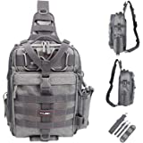 YVLEEN Fishing Tackle Backpack - Outdoor Large Fishing Tackle Storage Box Bag - Water-Resistant Fishing Backpack with Rod Hol
