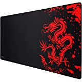 JIALONG Gaming Mouse Pad Large Size (900x400mm) Water-Resistant with Non-Slip Rubber Base, Special-Textured Surface, Support