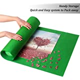 Ingooood Jigsaw Puzzle Roll Up Mat Puzzle Tables for Adults Portable Easy Move Storage Jigsaw Puzzle mat Work Separate roll u