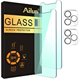 [Eye Protection] Ailun Anti Blue Light Screen Protector for iPhone 12 Pro Max 2 Pack [6.7 inch]+ 2 Pack Camera Lens Protector