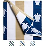 Cabana Striped Beach Towel, Oversized Pool Towel Multi Color Towels with High Absorbency, Ultra Plush and Soft