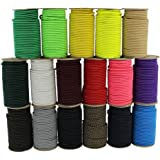 """SGT KNOTS Marine Grade Shock Cord - 100% Stretch, Dacron Polyester Bungee for DIY Projects, Tie Downs, Commercial Uses (1/4"""""""