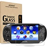 (Pack of 2) Screen Protector For PS Vita 1000, Akwox Premium HD Clear 9H Tempered Glass Screen Protective Film For Sony PlayS