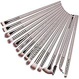 15Pcs Brown/Silver Professional Makeup Brushes Set Make up Brush Tools kit Eye Liner Eyeshadow Eye Brushes Make-up
