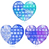 3PCS Fidget Toy, Washable Silicone Fidget Toy for Anxiety, Autism Special Needs, Stress Relief and Anti-Anxiety Tools for Kid