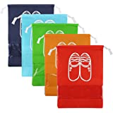 CHRISLZ Travel Shoes Bag Finishing Bag Dustproof Shoes Storage Bag Bundle Pocket Drawstring Organizer Bag (5-color-L)