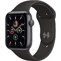 Apple Watch SE(GPSモデル)- 44mmスペースグレイアルミニウムケースとブラックスポーツバンド